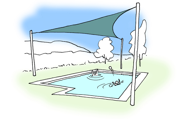 sun sail pool