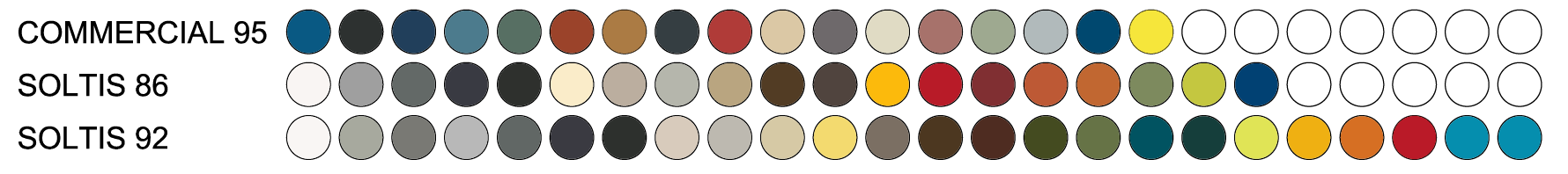 fabric color range