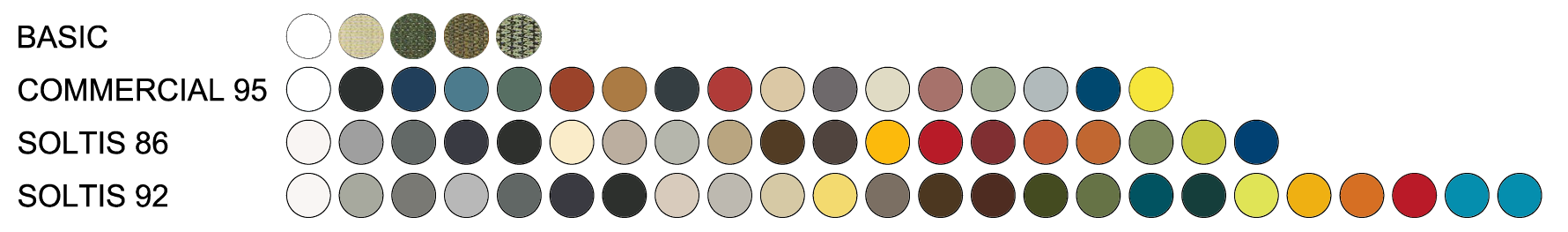 colores toldos